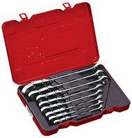 Набор универсальных ключей с двойным карданом и трещоткой, дюймовый, 9 предметов