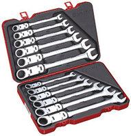 Набор универсальных ключей с двойным карданом и трещоткой, 12 предметов, метрический