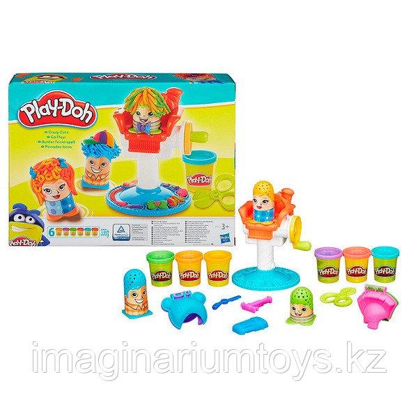 """Play-Doh пластилин набор с формочками """"Сумасшедшие прически"""""""
