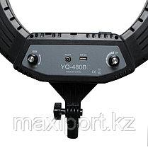 Профессиональная лампа 46 см кольцевая для фотоаппарата и смартфона YQ-480B Штатив в комплекте, фото 3