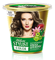 ФК 7563 Натуральная краска для волос Nature Stylist Color Тон 6.0 Натуральный русый
