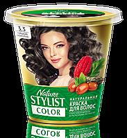 ФК 7554 Натуральная краска для волос Nature Stylist Color Тон 3.3 Горький шоколад