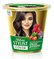 ФК 7559 Натуральная краска для волос Nature Stylist Color Тон 5.0 Темно-русый