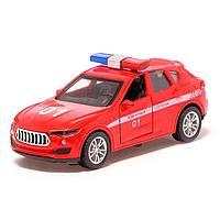 Машина металлическая «Пожарная служба», 1:32, инерция, открываются двери