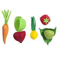 Набор овощей, 5 предметов, с карточками