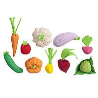 Набор овощей, 10 предметов, с карточками
