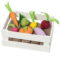 Набор овощей в ящике, 12 предметов, с карточками