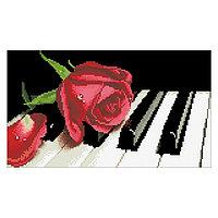 Набор алмазной вышивки «Роза на рояле»