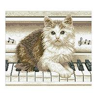 Набор алмазной вышивки «Котёнок на пианино»