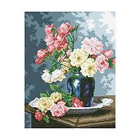 Набор алмазной вышивки «Ваза с садовыми розами»