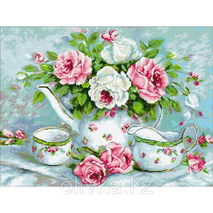Набор алмазной вышивки «Розовый чай»