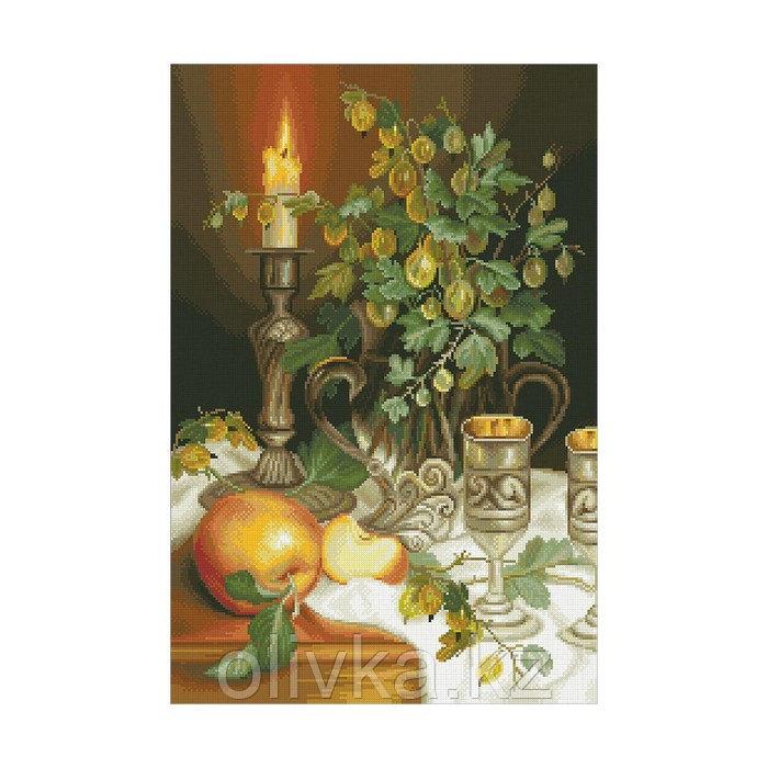 Набор алмазной вышивки «Свеча и крыжовник»