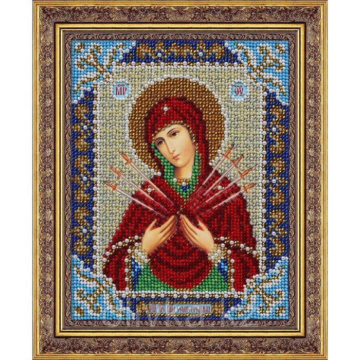 Набор для вышивки бисером «Пресвятая Богородица Семистрельная»