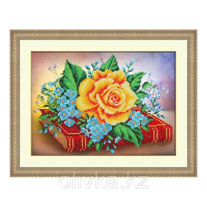 Набор для вышивки бисером «Роза и незабудки»