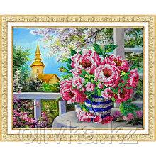 Набор для вышивки бисером «Розовый букет»