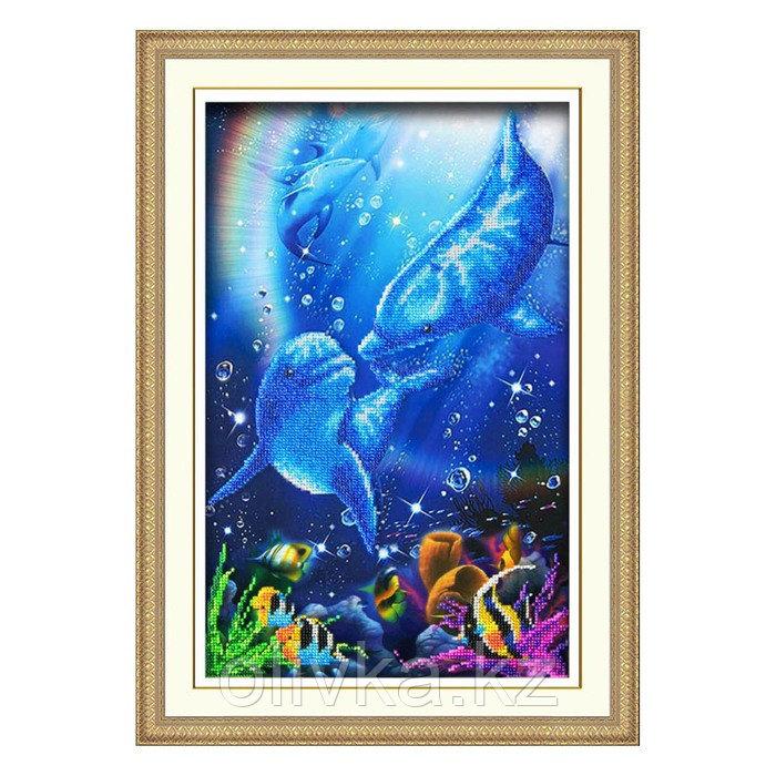 Набор для вышивки бисером «Дельфины»