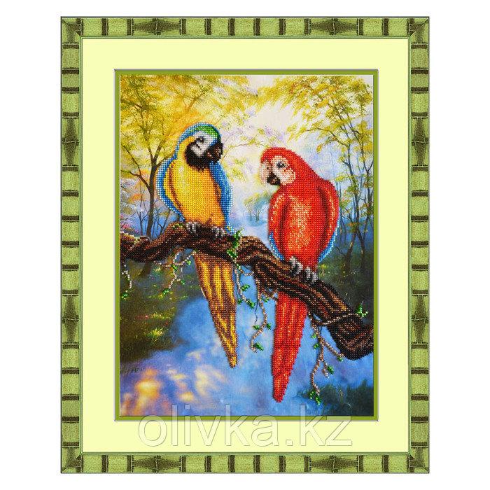 Набор для вышивки бисером «Попугаи»