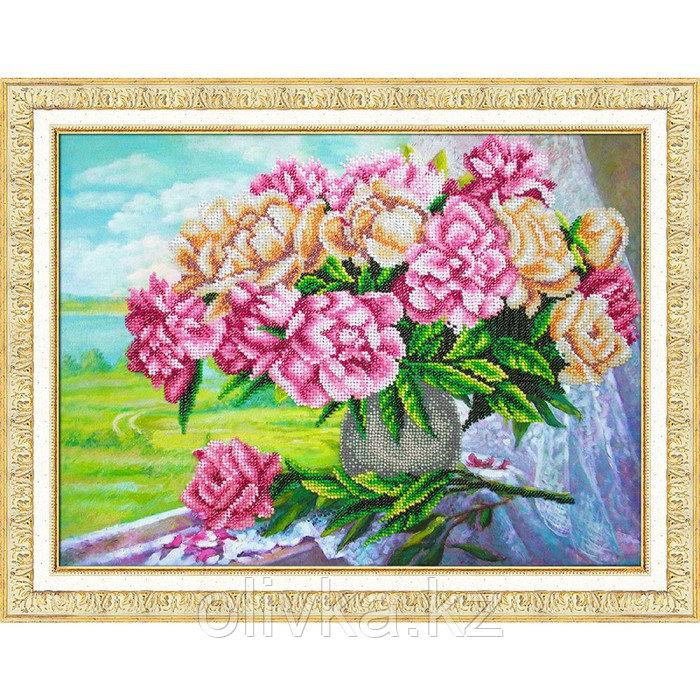 Набор для вышивки бисером «Розовые пионы»