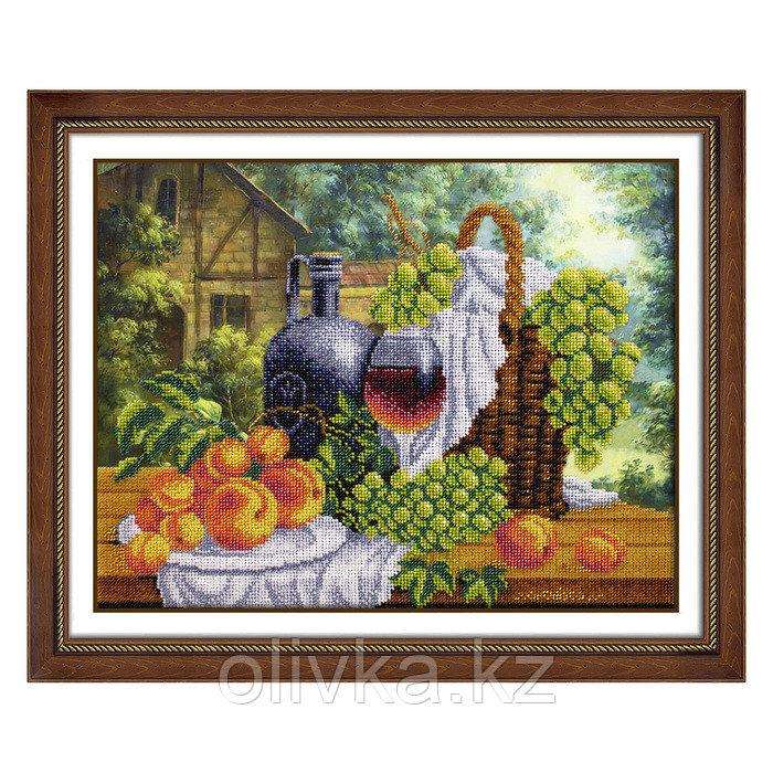 Набор для вышивки бисером «Натюрморт с вином»