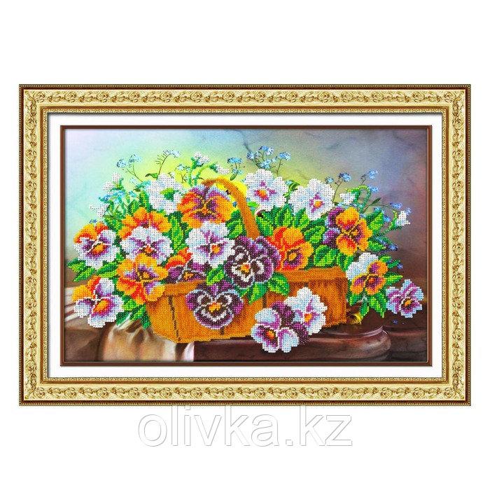 Набор для вышивки бисером «Корзина с виолами»