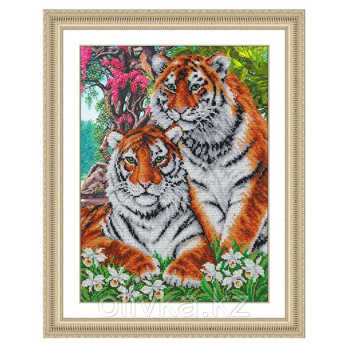 Набор для вышивки бисером «Тигры»