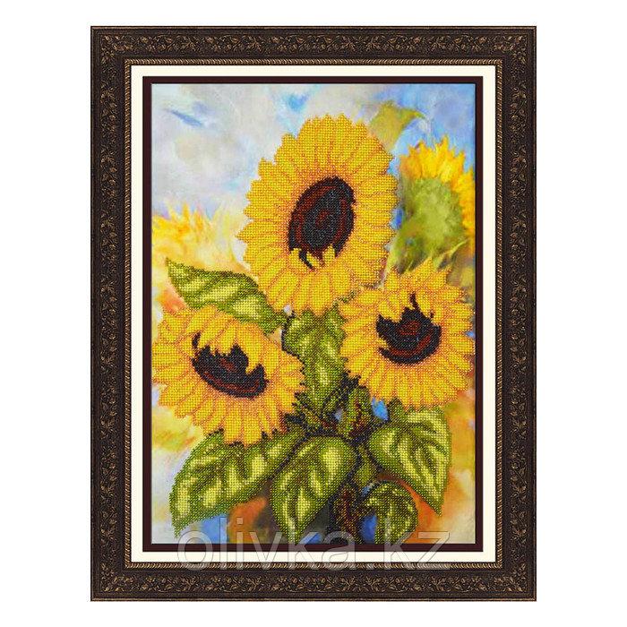 Набор для вышивки бисером «Солнечные подсолнухи»