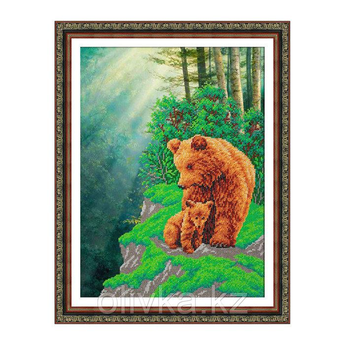 Набор для вышивки бисером «Медвежья семейка»