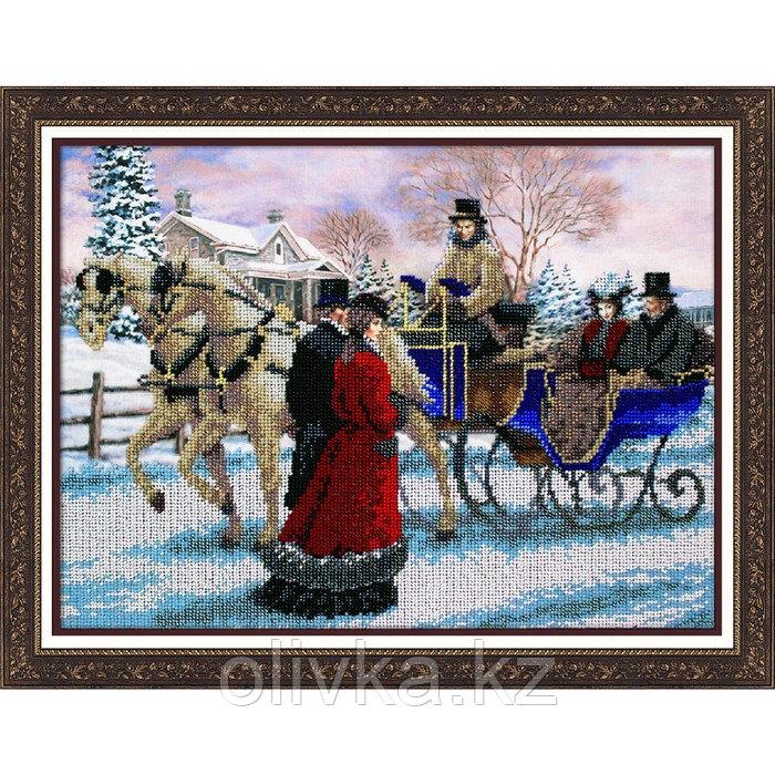 Набор для вышивки бисером «Зимняя прогулка»