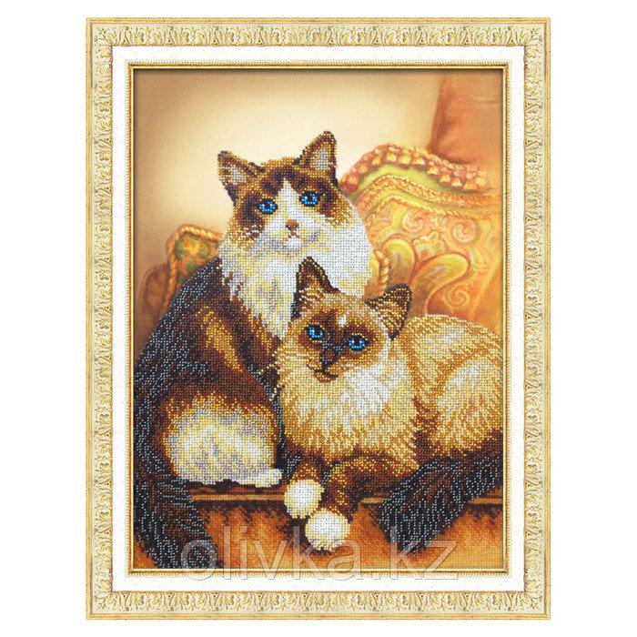 Набор для вышивки бисером «Котики»