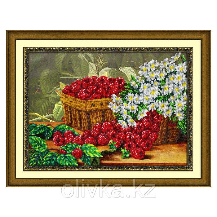 Набор для вышивания бисером «Малина и ромашки»