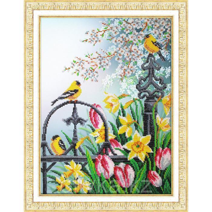 Набор для вышивания бисером «Цветы весны»