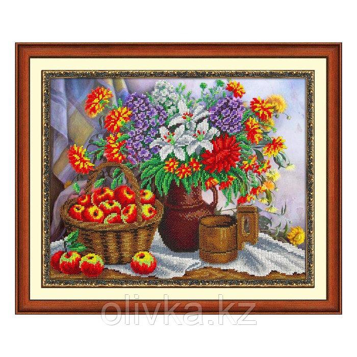 Набор для вышивки бисером «Яблоки и садовый букет»