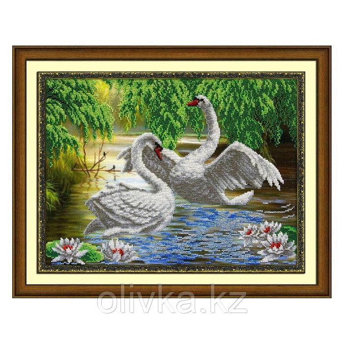 Набор для вышивки бисером «Лебеди»