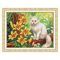 Набор для вышивки бисером «Котёнок в лилиях»