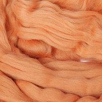Гребенная лента 100% тонкая мериносовая шерсть 100гр (2212, абрикос)