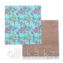 Бумага для скрапбукинга «Холща», 20 × 21,5 см, 180 г/м