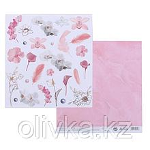 Бумага для скрапбукинга «Розовые мечты», 20 × 21,5 см, 180 г/м