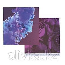Бумага для скрапбукинга «Расцветай», 20 × 21,5 см, 180 г/м