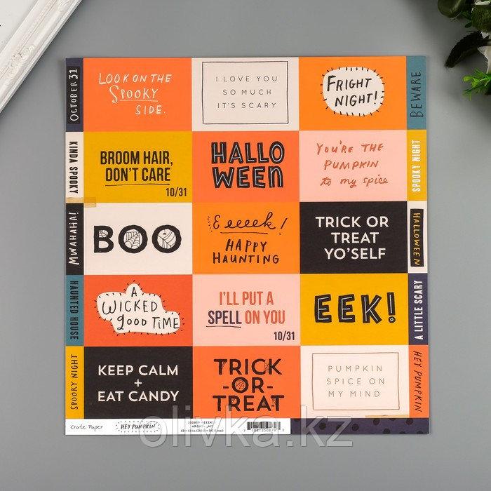 """Бумага для скрапбукинга Crate Paper """"Eeek"""" 30.5х30.5 см, 190 гр/м2"""