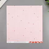 """Бумага для скрапбукинга двусторонняя """"Berry Sweet"""" 30.5х30.5 см, 190 гр/м2, фото 2"""