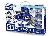 Игровой набор Паркинг с полицейской техникой