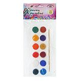 Краска акриловая, набор, 12 цветов х 4 мл, «Аква-Колор», художественно-оформительская, с кистью, морозостойкая, фото 2