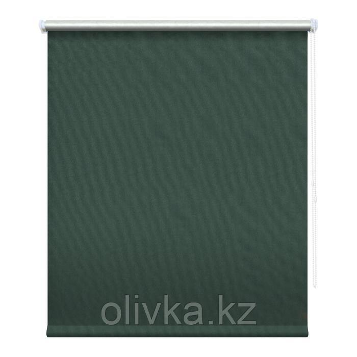 Рулонная штора блэкаут «Сильвер», 85х175 см, цвет маренго