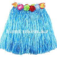 Юбка  гавайская с цветами 40 см, фото 1