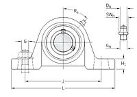 Y/UCT 216   натяжной подшипниковый узел SKF