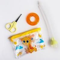 Набор маникюрный детский 'Жирафик', 3 предмета ножнички, аспиратор, прорезыватель