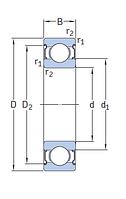 6307-2Z/C3 E.2 Энергосберегающий  подшипник SKF