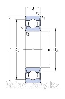 E2.6204-2RSH/C3   подшипник SKF