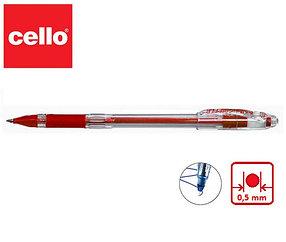 Ручка шариковая Cello Gripper 1, красный