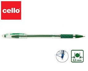 Ручка шариковая Cello Gripper 1, зеленый ОРИГИНАЛ
